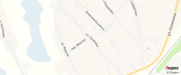 Улица Гагарина на карте Двулучного села с номерами домов