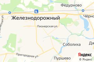 Карта г. Железнодорожный Московская область