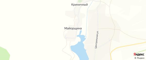 Карта села Майорщины в Белгородской области с улицами и номерами домов