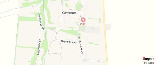 Центральная улица на карте села Хитрово Белгородской области с номерами домов