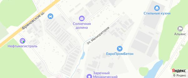Улица Мелиораторов на карте Щелково с номерами домов