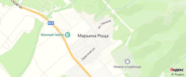 Карта села Марьиной Рощи города Геленджика в Краснодарском крае с улицами и номерами домов