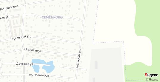 Рябиновая улица в Череповце с номерами домов на карте. Спутник и схема онлайн