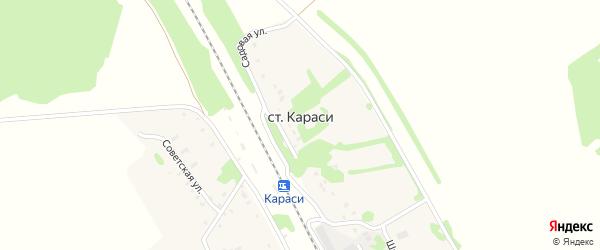 Железнодорожная улица на карте станции Караси Тульской области с номерами домов