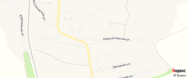 Новоселовская улица на карте поселка Горшечного Курской области с номерами домов
