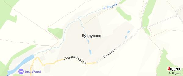 Карта деревни Бурдуково в Тульской области с улицами и номерами домов