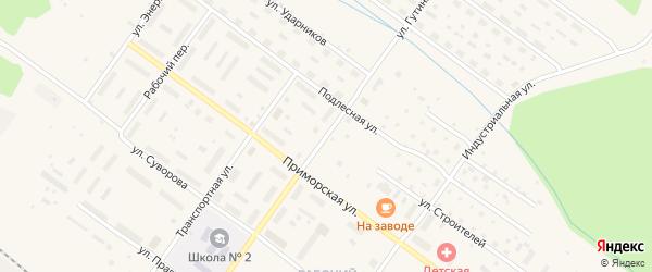 Улица Гутина на карте Онеги с номерами домов