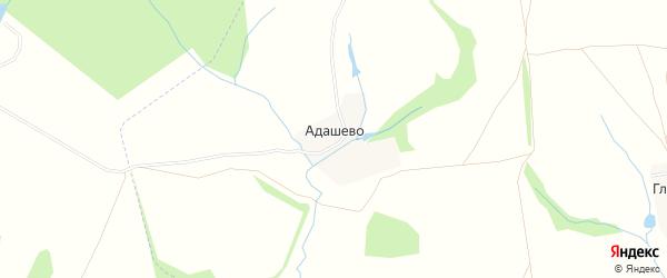 Карта деревни Адашево в Тульской области с улицами и номерами домов