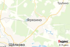 Карта г. Фрязино Московская область