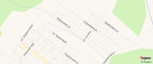 Рябиновая улица на карте Онеги с номерами домов