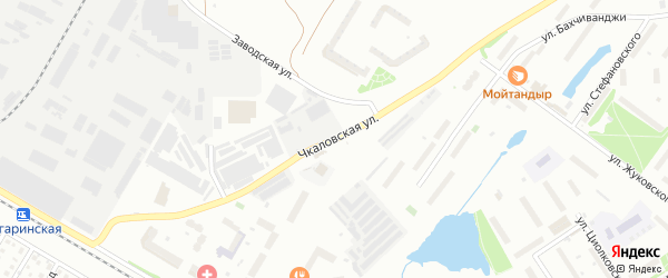 Чкаловская улица на карте Щелково с номерами домов