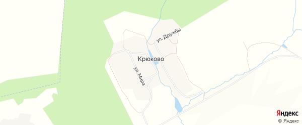 Карта деревни Крюково в Тульской области с улицами и номерами домов