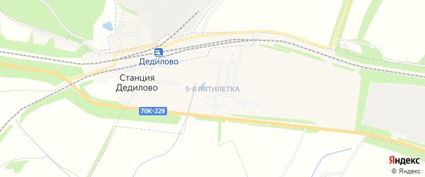 Карта квартала 5 Пятилетки города Узловой в Тульской области с улицами и номерами домов