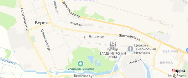 ГСК Орбита-4 на карте села Быково с номерами домов
