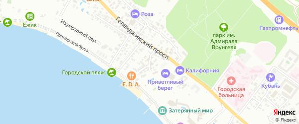 Радужная улица на карте Геленджика с номерами домов