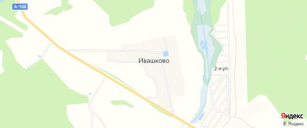 Карта деревни Ивашково города Сергиева Посада в Московской области с улицами и номерами домов