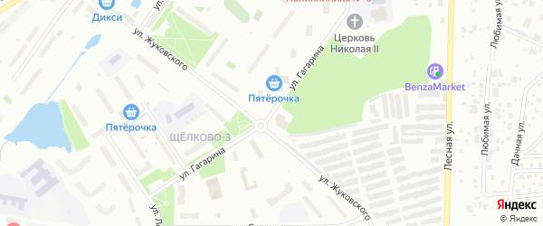 Улица Гагарина на карте Щелково с номерами домов