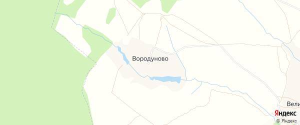 Карта деревни Вородуново в Тульской области с улицами и номерами домов