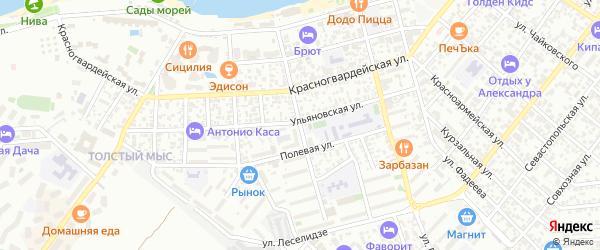 Улица Гринченко на карте Геленджика с номерами домов
