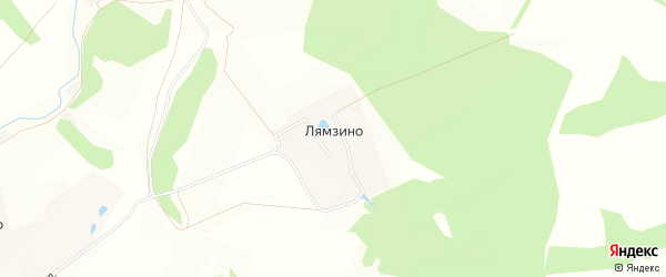 Карта деревни Лямзино в Тульской области с улицами и номерами домов