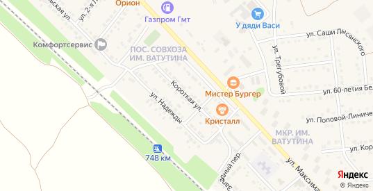 Короткая улица в Валуйках с номерами домов на карте. Спутник и схема онлайн