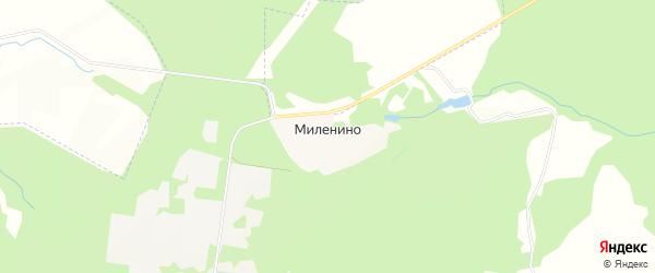 Карта хутора Миленино в Тульской области с улицами и номерами домов