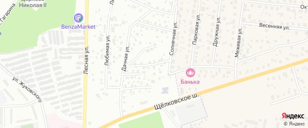 Восточная улица на карте территории Садов на реке с номерами домов