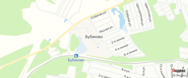 Карта деревни Бубяково города Сергиева Посада в Московской области с улицами и номерами домов