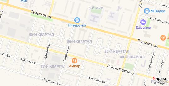 Улица Маяковского в Ефремове с номерами домов на карте. Спутник и схема онлайн