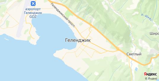 Карта Геленджика с улицами и домами подробная. Показать со спутника номера домов онлайн