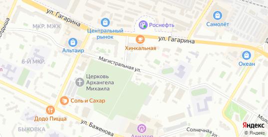 Магистральная улица в Жуковском с номерами домов на карте. Спутник и схема онлайн