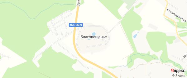 Карта села Благовещенье города Сергиева Посада в Московской области с улицами и номерами домов