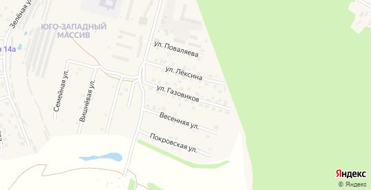 Улица Газовиков в Ефремове с номерами домов на карте. Спутник и схема онлайн