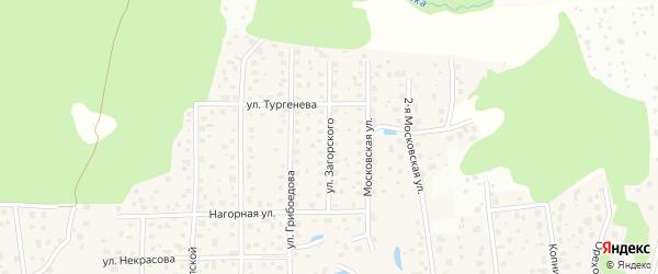 Улица Загорского на карте микрорайона Семхоза Московской области с номерами домов