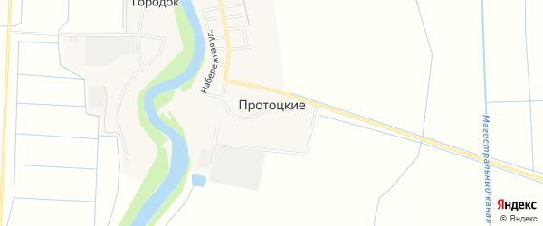 Карта хутора Протоцкие в Краснодарском крае с улицами и номерами домов