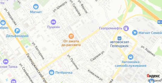 Улица Чернышевского в Геленджике с номерами домов на карте. Спутник и схема онлайн