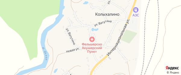 Улица Ватутина на карте села Колыхалино с номерами домов
