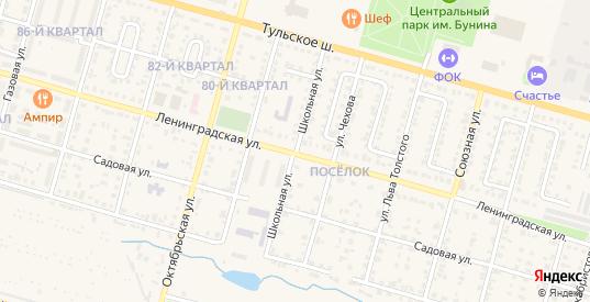 Школьная улица в Ефремове с номерами домов на карте. Спутник и схема онлайн