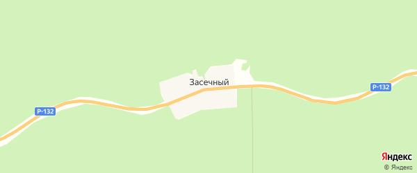 Карта Засечного поселка в Тульской области с улицами и номерами домов