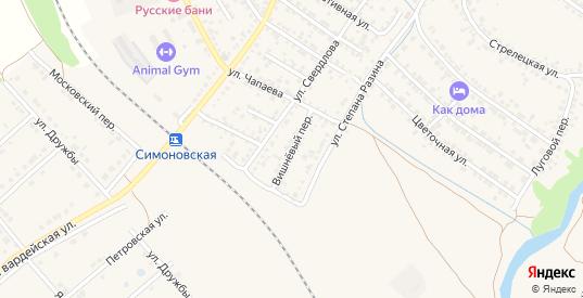 Вишневый переулок в Валуйках с номерами домов на карте. Спутник и схема онлайн