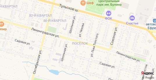 Улица Чехова в Ефремове с номерами домов на карте. Спутник и схема онлайн