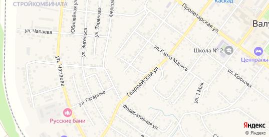 2-й Ямской переулок в Валуйках с номерами домов на карте. Спутник и схема онлайн