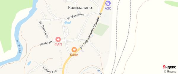 Интернациональная улица на карте села Колыхалино Белгородской области с номерами домов