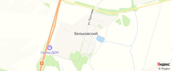 Карта Бельковского поселка в Тульской области с улицами и номерами домов