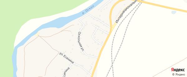 Оскольная улица на карте села Колыхалино с номерами домов