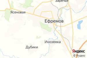 Карта г. Ефремов Тульская область