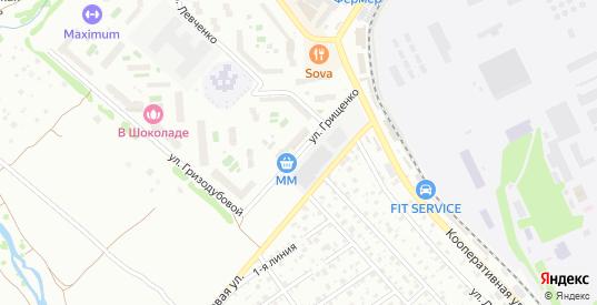 Улица Грищенко в Жуковском с номерами домов на карте. Спутник и схема онлайн
