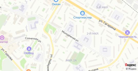 Молодежная улица в Жуковском с номерами домов на карте. Спутник и схема онлайн