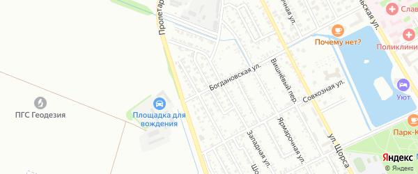 Абрикосовый переулок на карте Славянска-на-Кубани с номерами домов