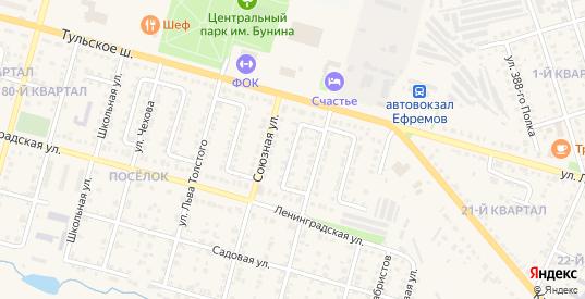 Трудовой проезд в Ефремове с номерами домов на карте. Спутник и схема онлайн
